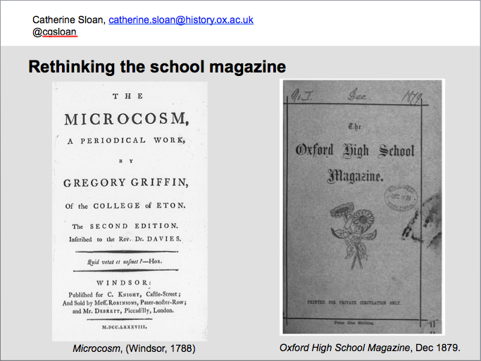 Rethinking the school magazine